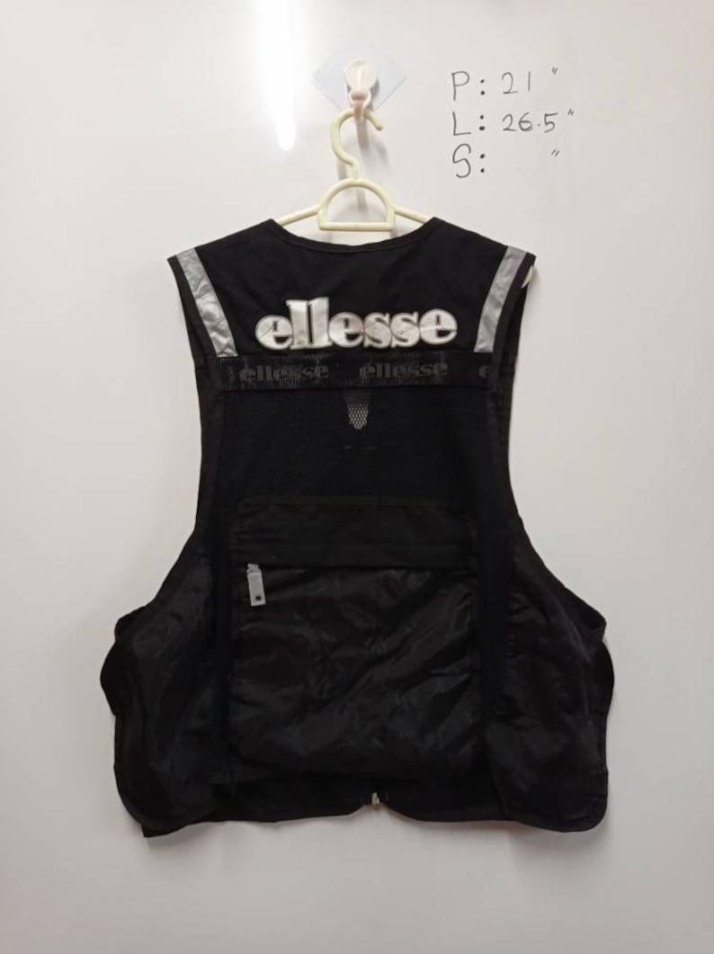 Vintage Ellesse Vest Tech wear multi pocket tactical vest Size L