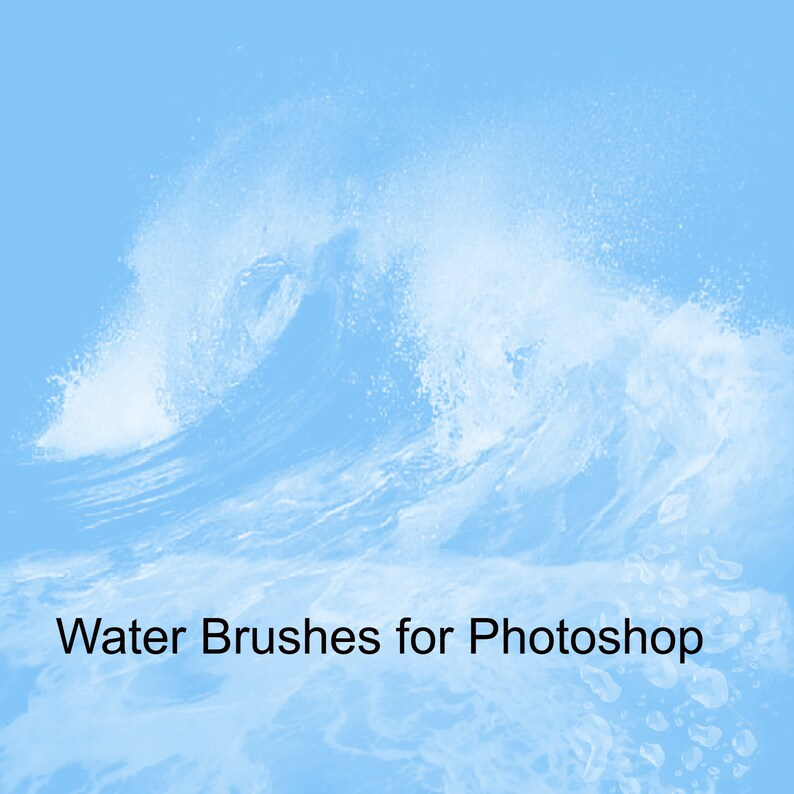 Digital Download,Instant Download Water Brushes for Photoshop Photoshop Brushes Water Water Drops Waterfall Photoshop Overlays Splash