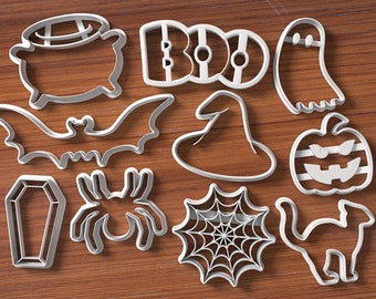 Halloween Cookie Cutter Set - Numbers Cookie Cutter and Fondant Cutter and Clay Cutter