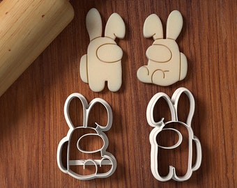 Bunny Among Us Cookie Cutter Set - Cookie Cutter - Fondant Cutter - Easter Bunny