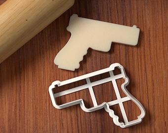 Gun Cookie Cutter - Handgun - Pistol Cookie cutter and Fondant Cutter and Clay Cutter