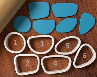 Pebbles Cookie Cutter set - Cookie Fondant Cutter and Clay Cutter