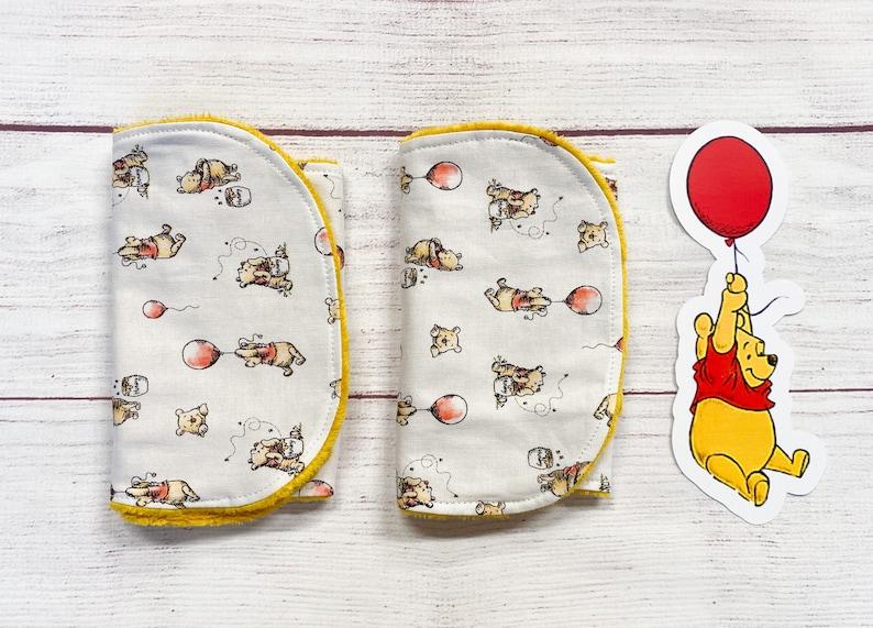 Winnie the Pooh and friends burp cloths