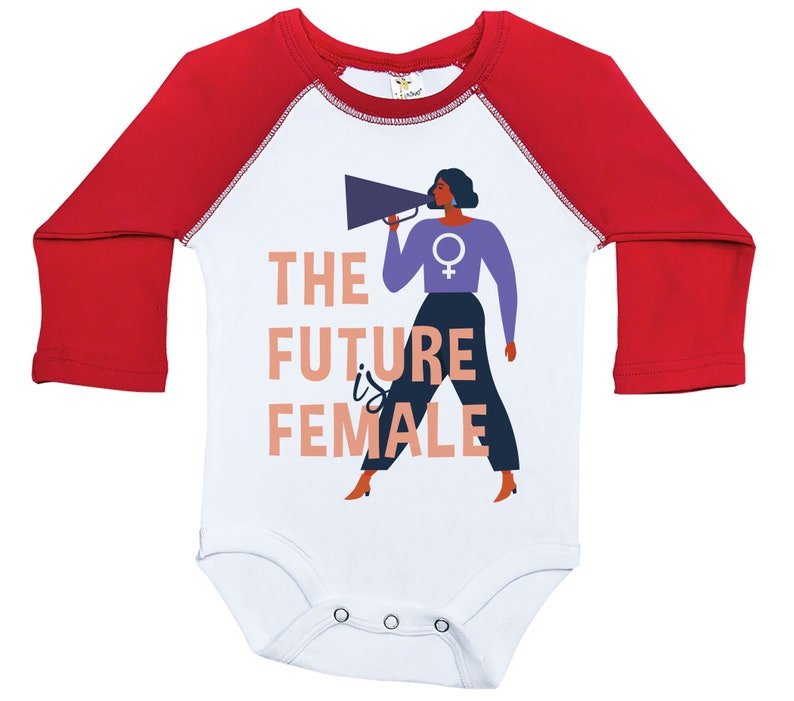 Raglan Onesie Baby Girl Outfits Girl Women/'s Day Onesie Newborn Onesie The FUTURE Is FEMALE Women/'s Day Long Sleeve Baby Shower Gift