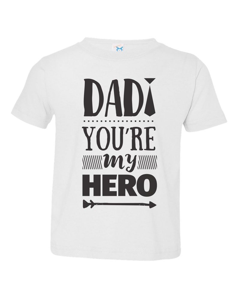 Dad Day Father/'s Day Shirt For Kids Youth Shirts Toddler Crew Neck Youth Shirt Father/'s Day DAD You/'re MY HERO Tees For Kids Unisex