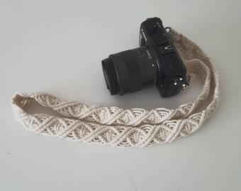Camera Strap Boho Style Handmade Macrame / Replacement Strap / Bag Strap/ Phone Strap / Kameragurt