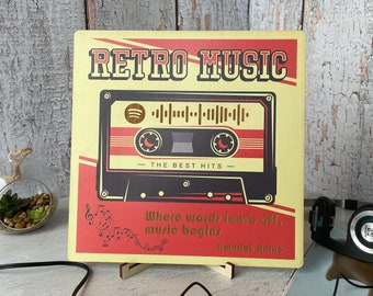 Music Lover Original Gifting Poster Frame Debut Album Cassette Vintage Poster The La/'s Original Cassette Album Cover Art