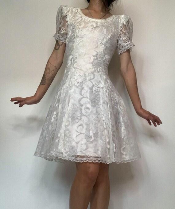 Vintage 70's Jessica McClintok Gunne Sax Dress - image 4