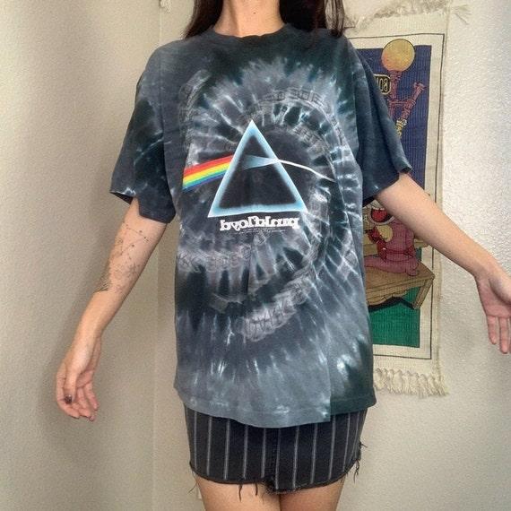 Vintage Y2K Liquid Blue Pink Floyd Tie Dye Graphi… - image 3
