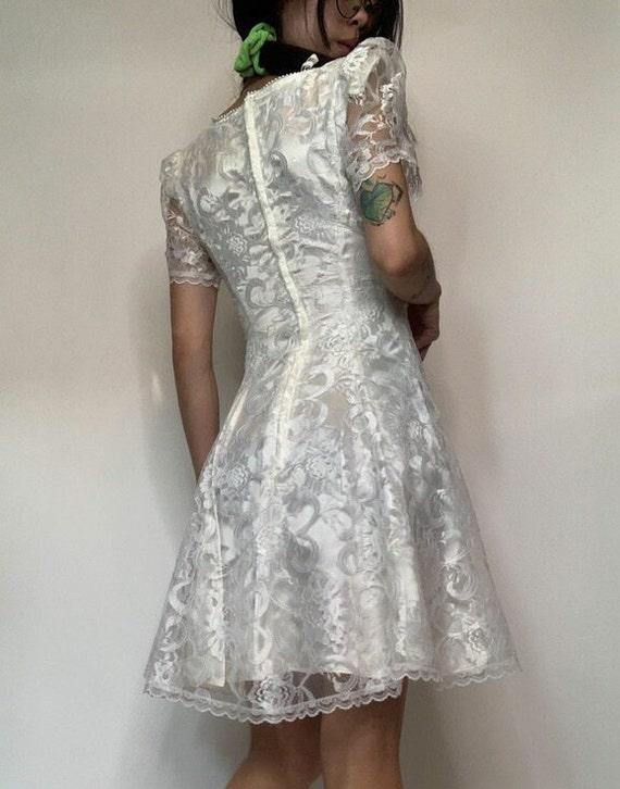 Vintage 70's Jessica McClintok Gunne Sax Dress - image 3