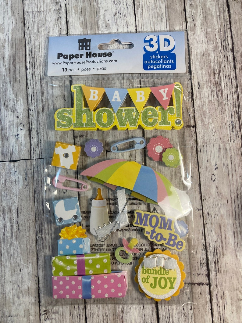 Paper House Production Baby Shower 3D Stickers