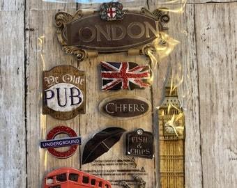 Paper House Production London 3D Stickers