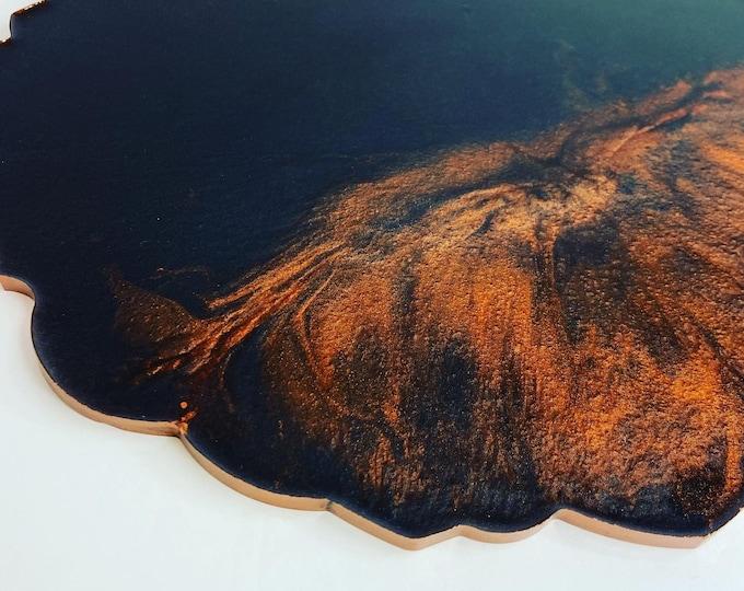 14\u201d Resin Geode Tray