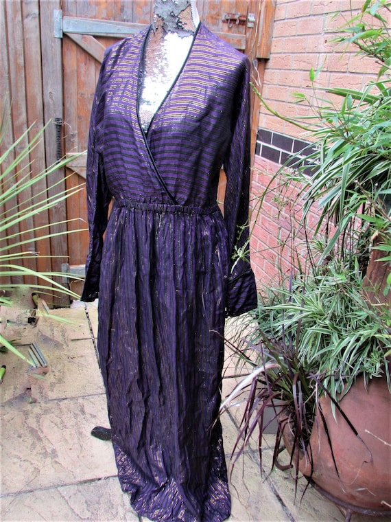 1970s monsoon indian cotton maxi dress sz 12