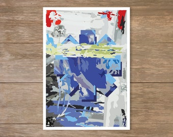 Red Hot Chili Peppers Poster, By The Way, Abstract, Chilis Poster, Red Hot Chili Peppers print
