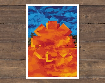 Red Hot Chili Peppers Poster, Californication, Abstract, Chilis Poster, Red Hot Chili Peppers print