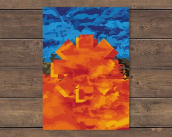 Digital Print at home - Red Hot Chili Peppers Poster, Californication, Abstract, Chilis Poster