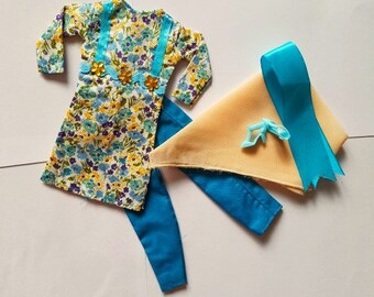 New Handmade For Barbie Casual Wear For Barbie Clothes Scarf-Shawl Barbie Shoes