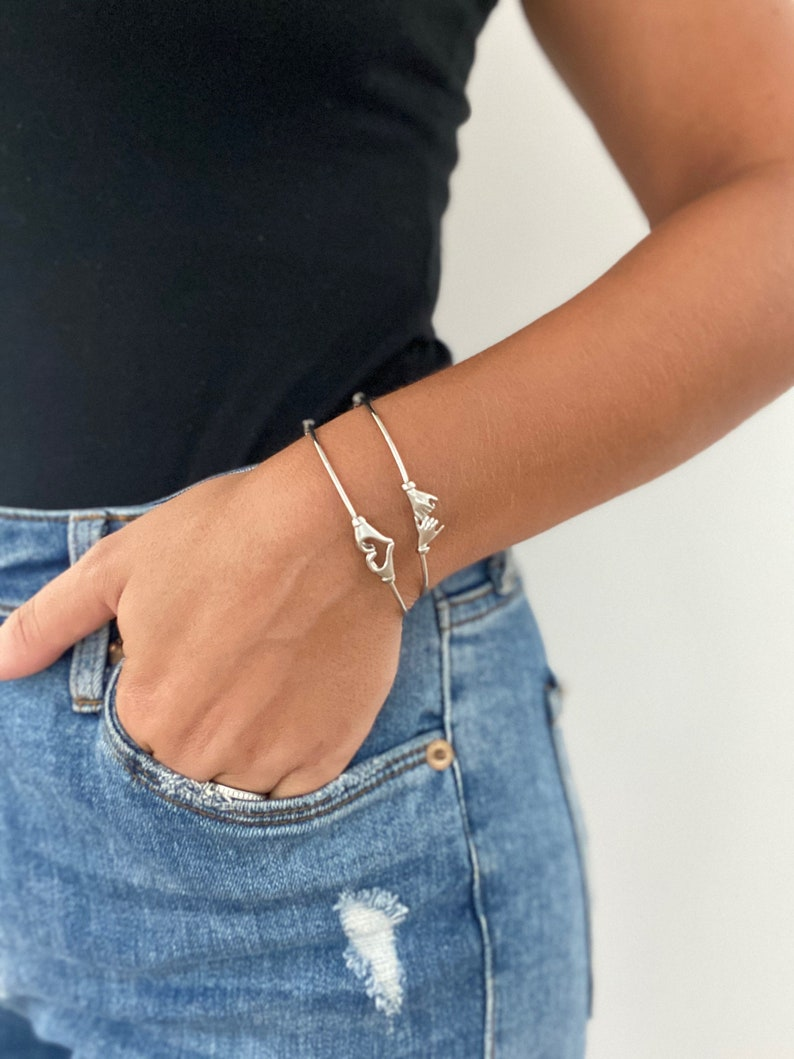 Silver Pinky Promise Bangle
