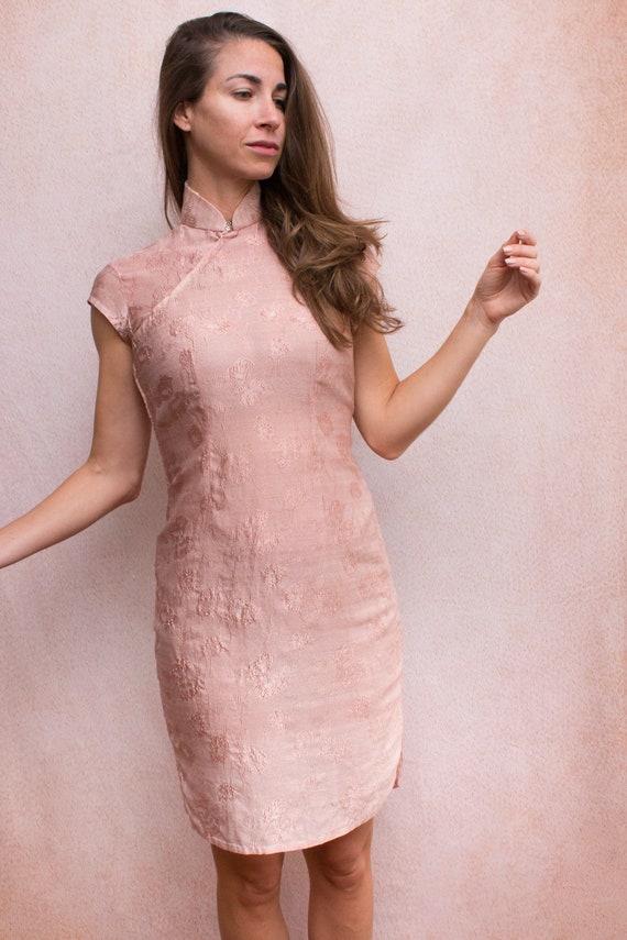 Dusty Rose Mandarin Dress - image 6