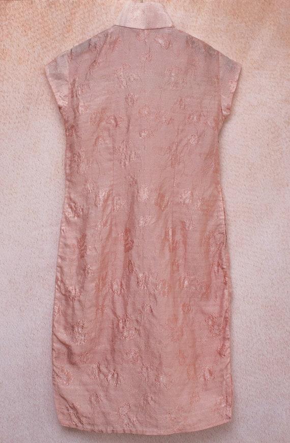 Dusty Rose Mandarin Dress - image 2