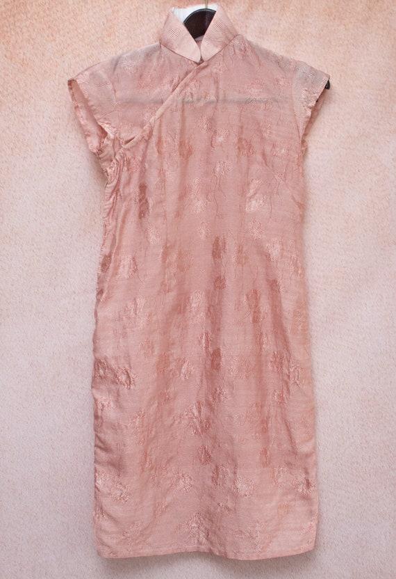 Dusty Rose Mandarin Dress - image 3
