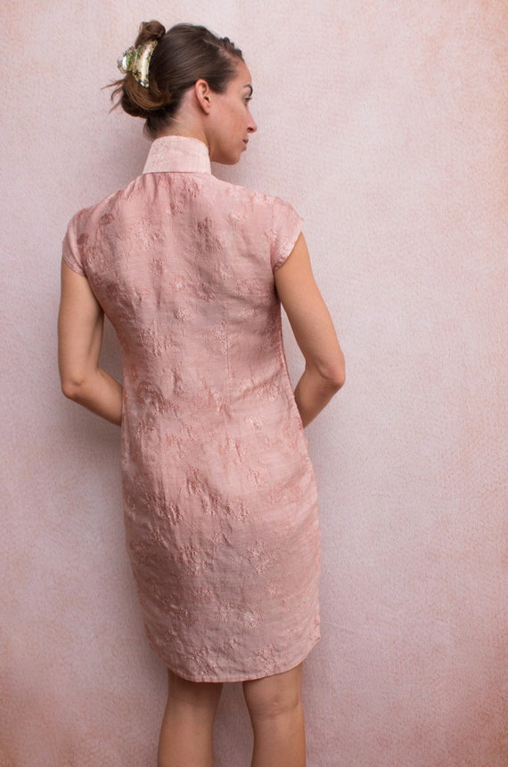 Dusty Rose Mandarin Dress - image 4