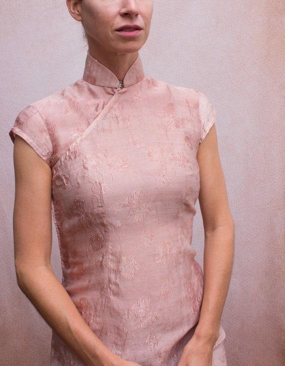 Dusty Rose Mandarin Dress - image 5