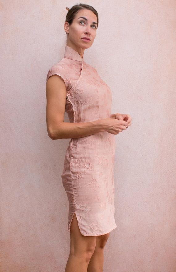 Dusty Rose Mandarin Dress - image 7