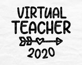 Virtual Teacher Svg Design, Teacher Shirt Svg, 2020 Teacher Ornament Svg File For Cricut, 2020 Teacher Cut File, Remote Learning Svg