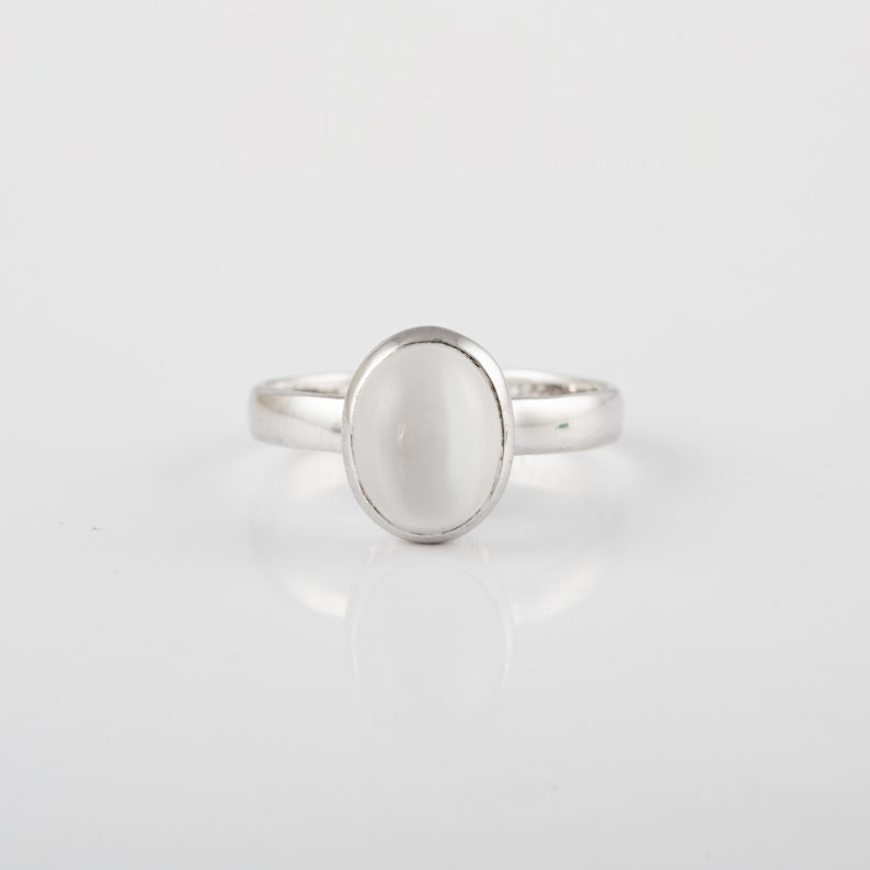 Rainbow Moonstone Ring Moonstone Ring Mystical Ring June Birthstone Ring Indian Ring Handmade Solid 925 Silver Ring Gemstone Ring