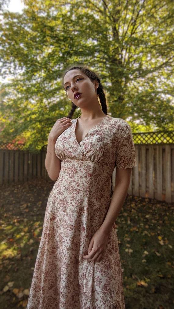Silk Laura Ashley Floral Dress