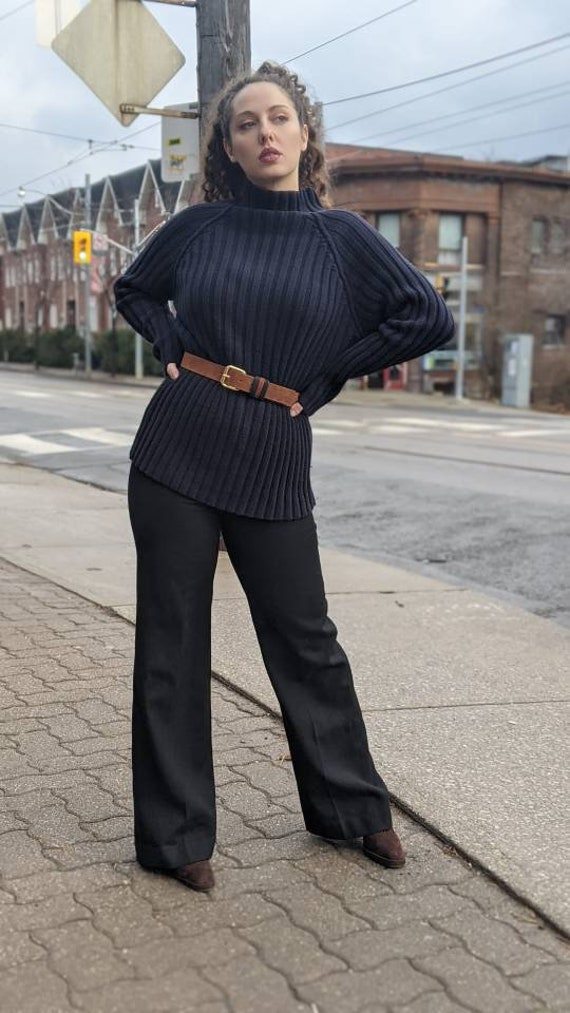 the most perfect black wool pant