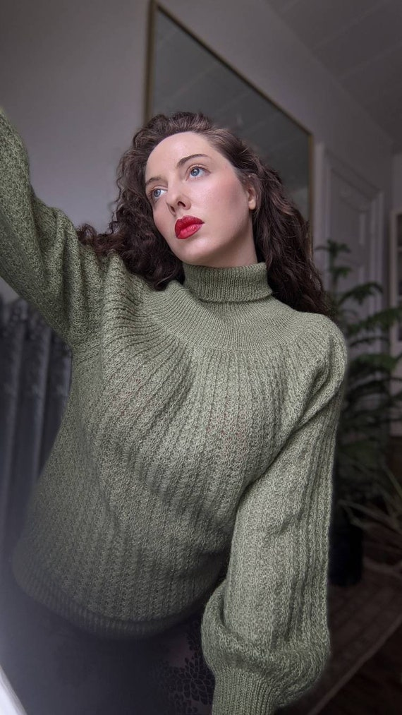 beautiful sage green knit sweater