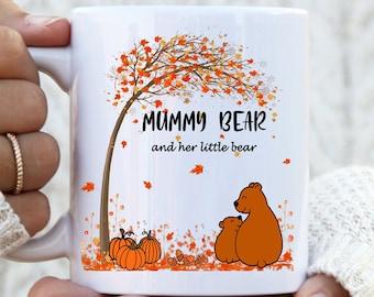 Mummy and Daddy Bear Autumn Mug,  Mummy Bear Mug, Daddy Bear Mug, Mama Bear Mug, Papa Bear Mug, Mummy Daddy mug, Mummy gift, Daddy gift