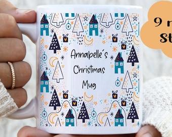 Personalised Christmas Name Mug, Christmas mugs, Hot chocolate mug, Christmas Cup, Holly jolly, Magical time of the year, Christmas cheer