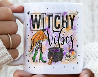 Witchy Vibes Halloween Mug, Witchy Mug, Halloween Gift, Gifts For Halloween, Witches Brew mug, Spooky mug, Witches Brew, Halloween Kids Mug