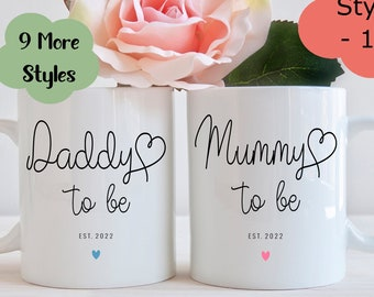Mummy to be and Daddy to be mugs, New Mummy mug, New Daddy mug, New parents gift, Baby shower gift, Mummy gift, Daddy gift, Mummy to be