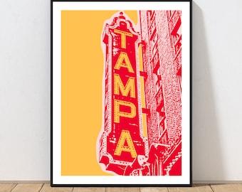 Tampa Theatre Art Print by Embarcadero Prints | Tampa Theatre Wall Art | Tampa Art Print | Florida Wall Art Decor