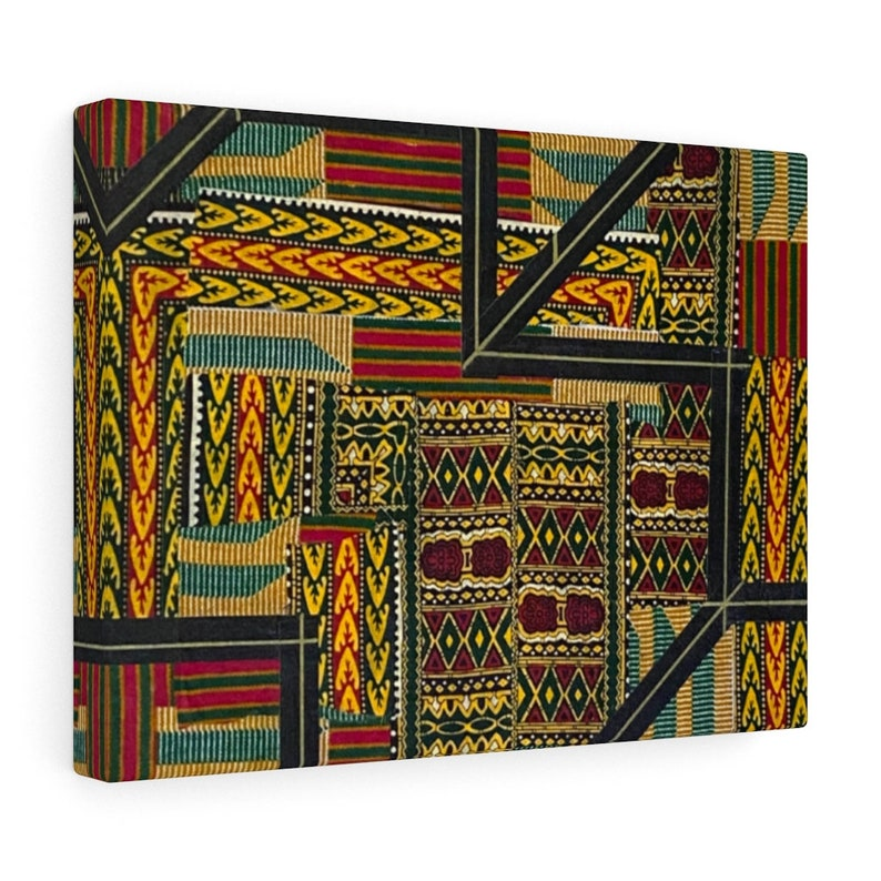 African print canvas Dare To Be Unique: Modern African fabric wall art design textile art print digital print wall decor on a canvas