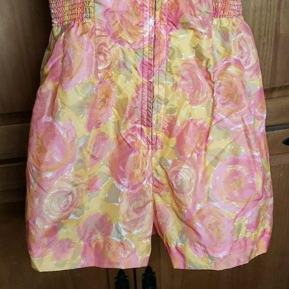 50's Vintage Floral Romper Swimsuit - image 7