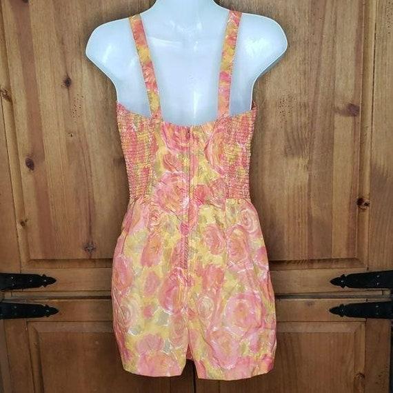 50's Vintage Floral Romper Swimsuit - image 4