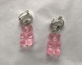 clip on/hook gummy bear earrings customisable pair
