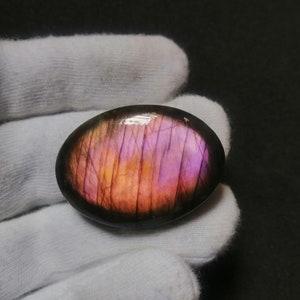 Amazing Spectrolite  Labradorite Gemstone Top Quality Gemstone Cabochon Purple fire Coffin Shape Gemstone  50.4 Cts Size 40x24x7  P#93