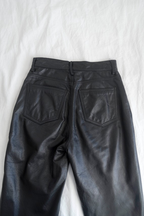 90s Vintage Women's Wilson Leather Black Leather … - image 7