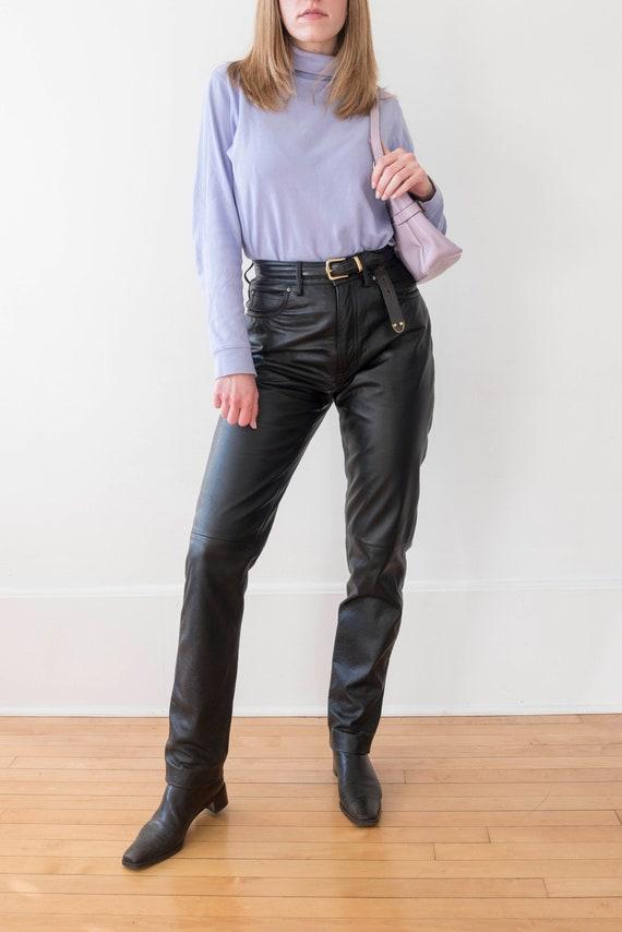 90s Vintage Women's Wilson Leather Black Leather … - image 3