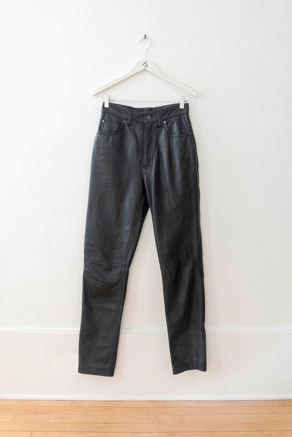 90s Vintage Women's Wilson Leather Black Leather … - image 4