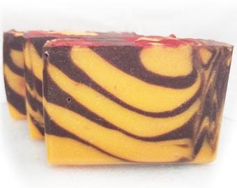 Warm Cinnamon Handmade Vegan Artisan Bar Soap, Organic Coconut Oil, Olive Oil, Organic Palm Oil