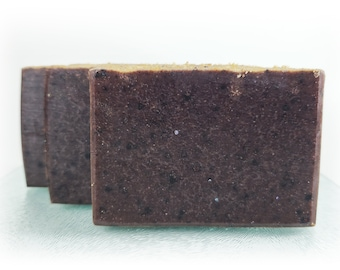 Rose Hip and Red Clay Bar Soap Artisan Handmade Vegan With Organic Coconut Oil Olive Oil Palm Oil Sea Salt Natural Moisturizing Calming