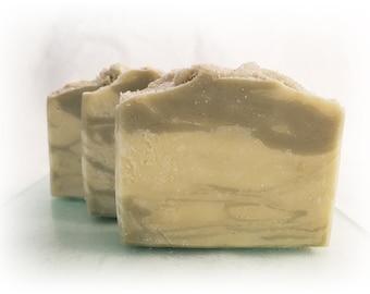 Mud Puddle Bar Soap Artisan Handmade Vegan With Organic Coconut Oil Olive Oil Palm Oil Sea Salt Natural Green Clay Moisturizing Calming